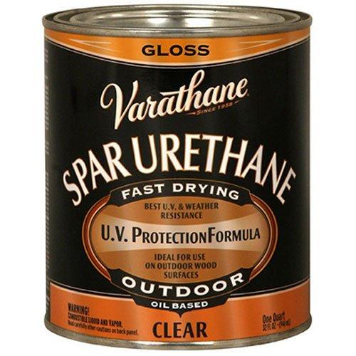 Rust-Oleum Varathane 9241H 1-Quart Classic Clear Oil Based Outdoor Spar Urethane, Gloss Finish