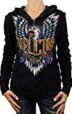 Affliction Born To Run Long Sleeve Reversible Hoodie S Black