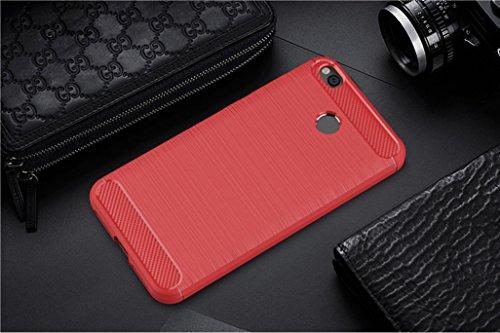 Funda Xiaomi Redmi 4X,Funda Fibra de carbono Alta Calidad Anti-Rasguño y Resistente Huellas Dactilares Totalmente Protectora Caso de Cuero Cover Case Adecuado para el Xiaomi Redmi 4X D