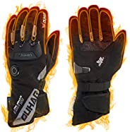 Heated Motorcycle Gloves with Touch Screen, Rechargeable Warm Heated Gloves Gloves for Motorcycle Riding Ski C