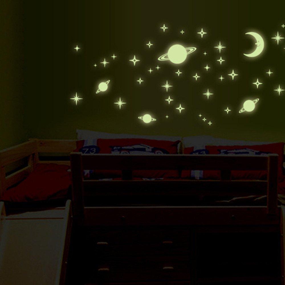 JiaMeng Dandelion Girl Luminoso Pegatinas Living Room Dormitorio ...