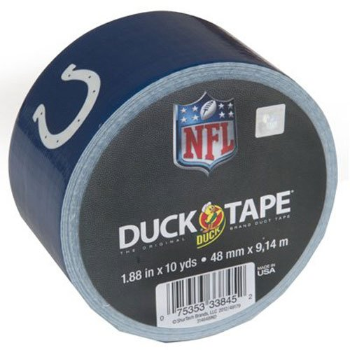 (Duck Brand 281537 Indianapolis Colts NFL Team Logo Duct Tape, 1.88-Inch by 10 Yards, Single Roll )