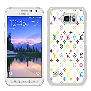 Hot Sale Louis-Vuitton-Patterns-On-White-Background White Samsung Galaxy S6 Active Screen Phone Case Fashion and Luxury Design