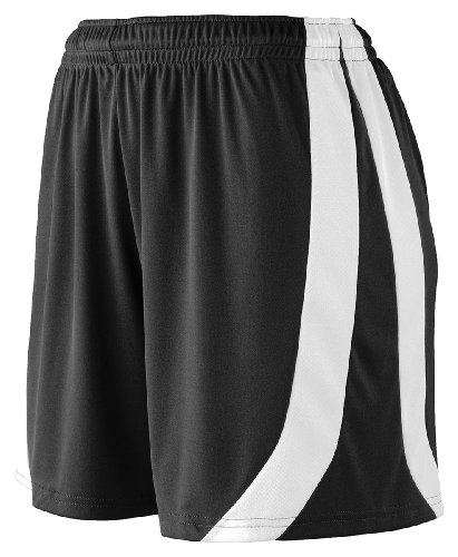 Augusta Sportswear Girls triumph short - BLACK/WHITE - L by Augusta Sportswear