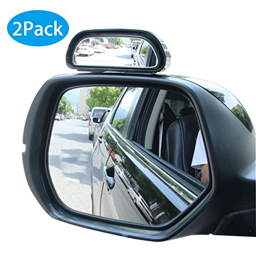 EEEKit 2-Pack Rgiht + Left 360 Degree Adjustable Wide Angle Side Rear Mirrors Universal Blind Spot Snap Way Rear View Mirror