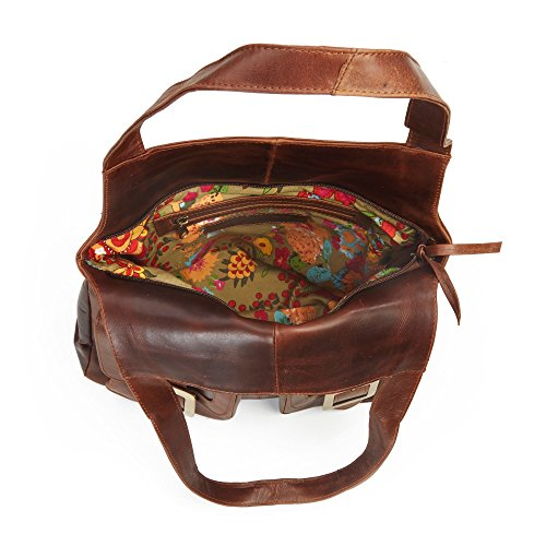 Esther in pelle per borsa, colore: marrone antico