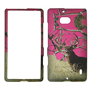 2D Camo Deer Tail Pine Nokia Lumia Icon 929 Verizon Case Cover Hard Phone Case Snap-on Cover Rubberized Touch Protector Faceplates