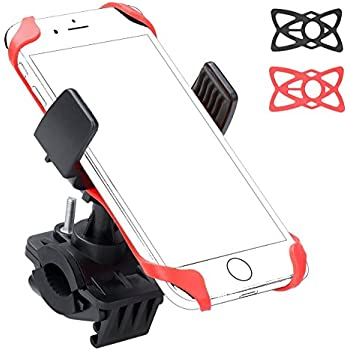 Ailun Bike & Motorcycle Cell Phone Mount,Universal Phone Mount Holder,Universal for iPhone 7/7 Plus,6/6s Plus,Samsung Galaxy S7/S7 Edge/S6/s6 edge,and Other Smartphones,iPods,and MP3 player[BLACK]
