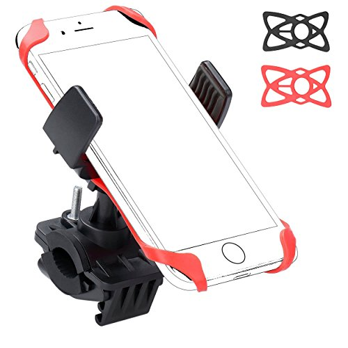 Ailun Bike Motorcycle Cell Phone Mount Holder,Handlebar Rack Grip Universal Compatible iPhone X/8/8 Plus,7/7 Plus,6/6s Plus,Galaxy S9/S9+,S8/S7/S6,and Other Smartphones,iPods,and MP3 Player[Black]