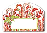 Cheap Christmas Candy Canes Address Magnet w/ Easy-To-Apply House Number Yard DeSigns Interchangeable Magnetic Art