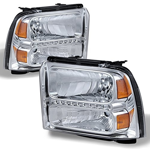 05-07 Ford F-Series Superduty 05 Excursion LED Headlight Front Lamps Direct Replacement Left + Right