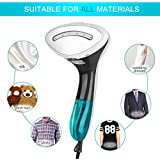 ABM Handheld Portable Fabric Steamer, 1500W Powerful Steamer with Fast Heat-up, Steamer with Accessories