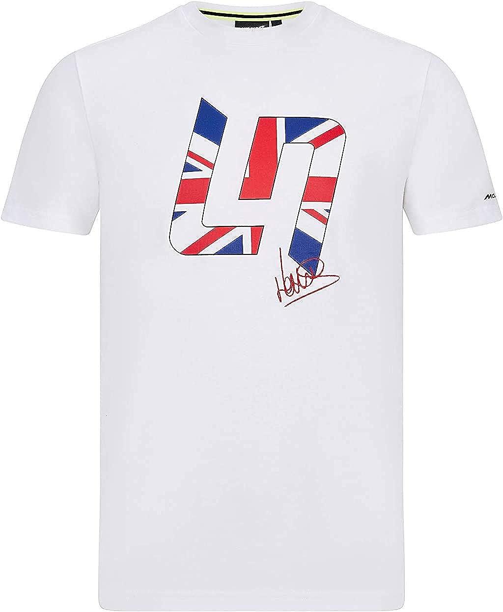 F1 McLaren Lando Norris Mens Great Britain T-Shirt White