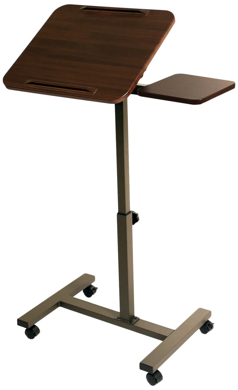 Mobile Laptop Cart Rolling Desk Computer Stand Notebook