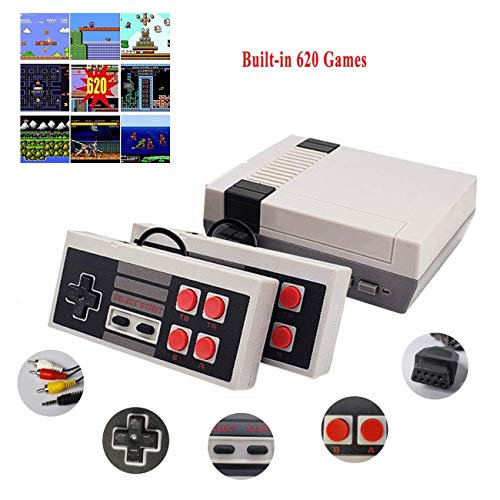 JAOK Classic Handheld Game Console, Built-In 620 Classic Games And 2X 4 Nes Classic Button Controller Av Output Video Games, Is An Ideal Gift Choice For Children And Adults