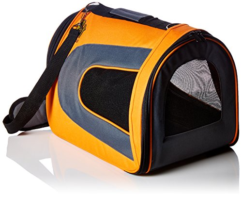 (Pet Magasin Soft-Sided Pet Travel Carrier - [Airline TSA Approved] - Portable Traveling Kennel for, Cats, Small Dogs and Puppies (Large, Orange))