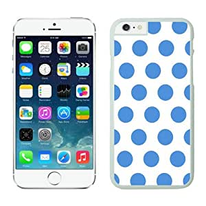 FAGUO Crazy Personalized Polka Dot White and Blue iPhone 6 Case White