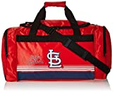 MLB St. Louis Cardinals Striped Core Duffle Bag, Medium, Red