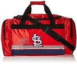 MLB St. Louis Cardinals Striped Core Duffle Bag, Medium, Red