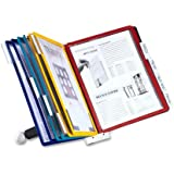 DURABLE SHERPA 10-Panel Desktop Reference System, Assorted Color Borders (554200)