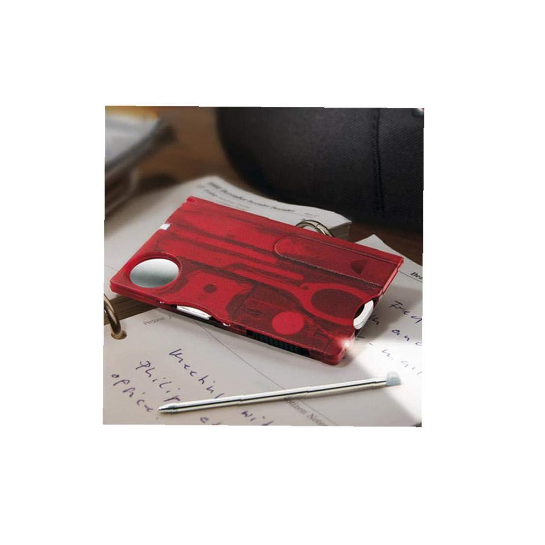 12-En-1 Multifunci/ón Tarjetas Herramienta Que Acampa Barbacoa Tenedor EDC Seguridad De Primeros Auxilios Al Aire Libre Port/átil Herramienta Tarjeta De Red