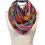 #9: Scarfand's Mixed Color Oil Paint Infinity Fashion Scarf