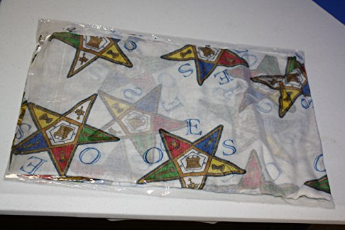 OES Order of the Eastern Star Oversized Scarf, 36x72 Inches
