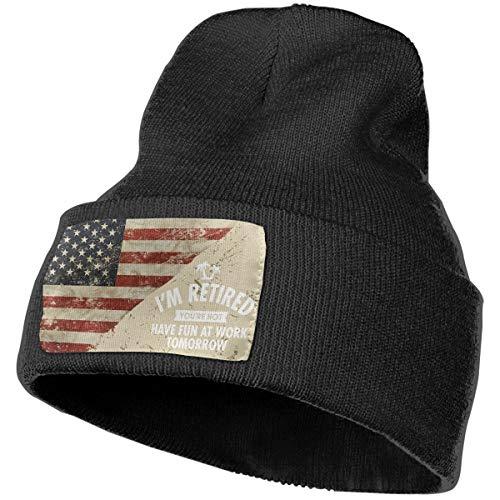 I'm Retired Have Fun at Work Tomorrow US Flag Unisex Adjusta