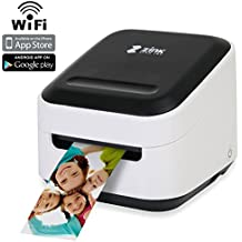 Zink Mobile Photo Printer Multifunction Wireless Color Label instagram Portable Digital Photo Booth Printer Works With Mobile Phone iPad iPhone Tablets Art Printer Mailing Address Label & FREE App