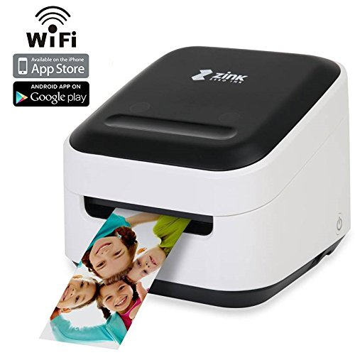 Digital Scrapbook Ribbon (Zink Mobile Photo Printer Multifunction Wireless Color Label instagram Portable Digital Photo Booth Printer Works With Mobile Phone iPad iPhone Tablets Art Printer Mailing Address Label & FREE App)