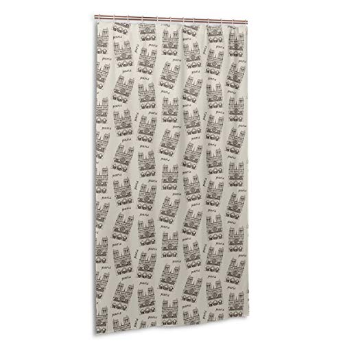 A1YL-10U Shower Curtains Liner for Bathroom Notre Dame De Paris Cathedral, France Decor Fabric Set Polyester Waterproof Fabric 36x72 Inch Free 7-Pack Plastic Hooks