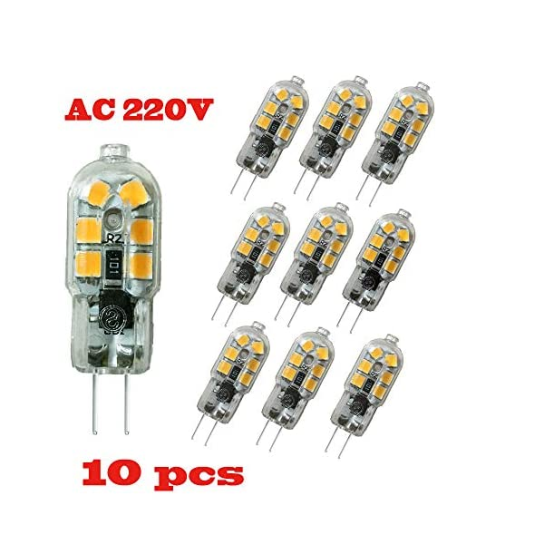 Wulun, lampadine a LED G4, 2 W, CA 220 V-240 V, lampade a LED con luce bianca calda, 3.000 K, lampada alogena… 4 spesavip