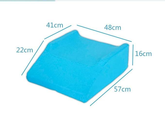 Almohadilla de pierna doble de la extremidad inferior que eleva, resto de pierna de elevación con la cubierta azul de la esponja de la alta densidad: ...