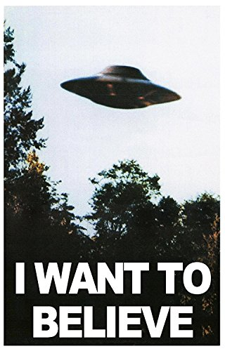 "X FILES ""I Want to Believe"" Mulders Office Tv Show Poster 24"