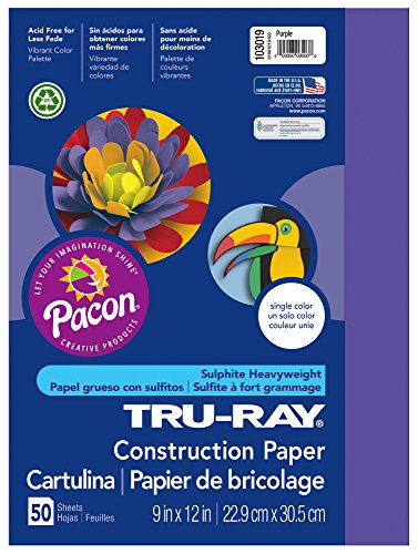 Pacon Tru-Ray Construction Paper, 9-Inches by 12-Inches, 50-Count, Assorted