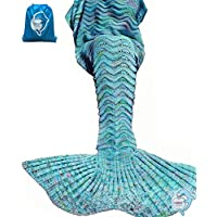 LAGHCAT Mermaid Tail Blanket Knit Crochet Mermaid Blanket...
