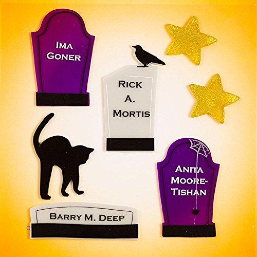 Design Ideas GelGems Halloween Themed Gel Window Clings (Tombstones, Small Bag)