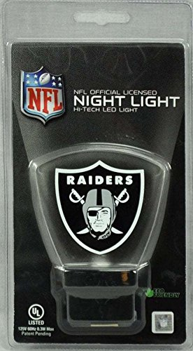 Oakland Raiders High Tech LED Nightlight No bulbs to change lasts 10 Years (Tech Sign Led)