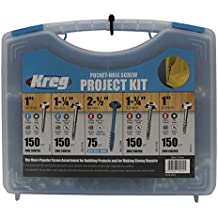 "Kreg Pocket-Hole Screw Kit #6 X 1 /"" #7 X 1 /"" #7 X 1.25 /"" #8 X 1.25 /"" #8 X 2.5 /"""
