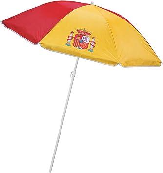 SOMBRILLA Proteccion UV ESPAÑA- Sombrilla Parasol con la Bandera de España-Grande 155cm de diametro-SOMBRILLA Playa Bandera DE ESPAÑA: Amazon.es: Equipaje