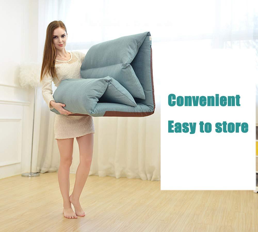 LANGYINH Soffstol med justerbart ryggstöd, mångsidig halvvikbar loungestol, passar för seminarier, läsning, TV-tittande - 180 ° fri justering, 2 2