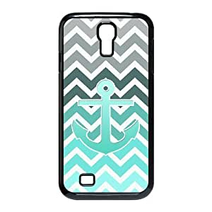 LZHCASE Blue Chevron Anchor Diy Case Shell Cover For Samsung Galaxy S4 i9500 [Pattern-1]
