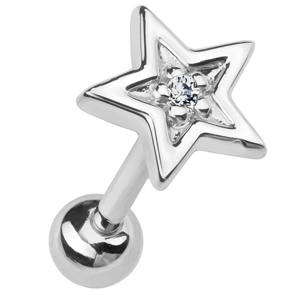 FreshTrends Diamond Star 14K Rose Gold Cartilage Earring