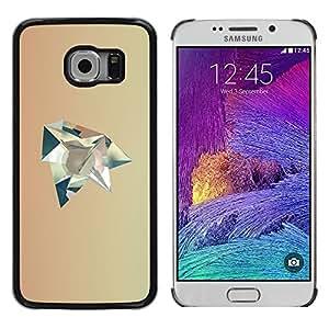 iKiki Tech / Estuche rígido - Polygon Art Beige Futuristic - Samsung Galaxy S6 EDGE SM-G925