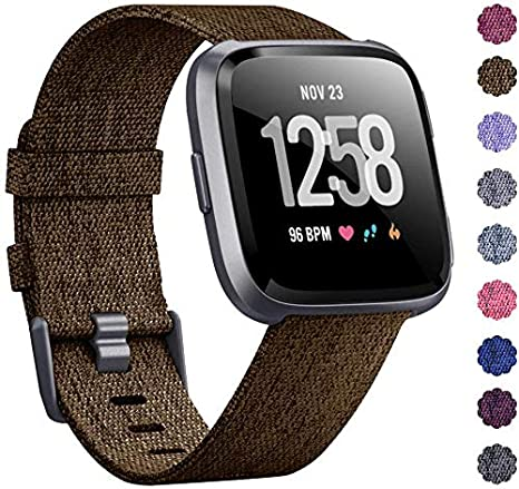 Amazon.com: OUYAWEI Woven Watch Band Compatible with Fitbit ...