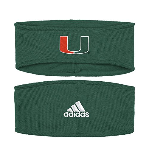 adidas University of Miami Hurricanes Earband Coach Sideline Knit Band