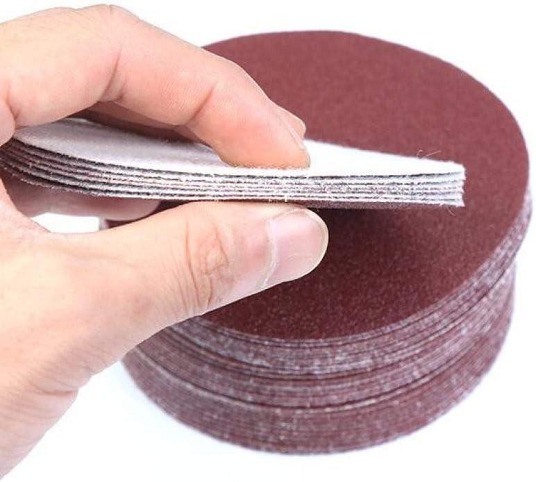 FMXKSW Round Sandpaper, 100pcs 6 Inch 150mm Disk Sand Sheets Grit 40-2000 for Choose Hook Loop Sanding Disc for Sander Grits,Grit 150 Grit 100