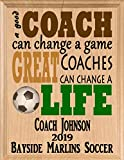 Broad Bay Soccer Coach Gifts Personalized Coaches Gift Appreciation Thank You Plaque