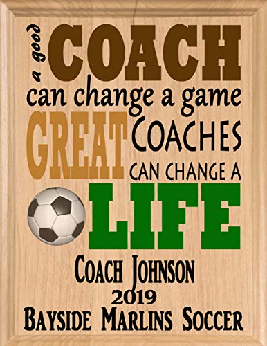 (Broad Bay Soccer Coach Gifts Personalized Coaches Gift Appreciation Thank You Plaque)