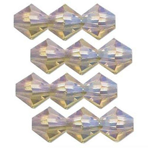 (12 Lime AB 2X Swarovski Crystal Bicone Beads 5301 4mm)